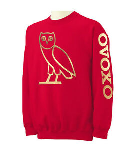 NEW-OVOXO-Gold-Logo-Crewneck-Sweatshirt-S-5XL-October-very-own-Drake-ymcmb