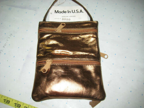 GENUINE LEATHER MESSENGER CROSS BODY SHOULDER BAGS DIFFERENT COLORS MADE IN US