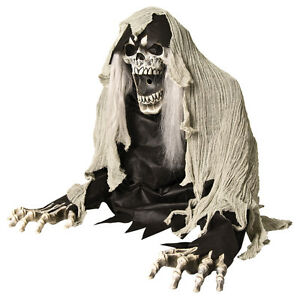 Wretched reaper animated fog prop haunted house decor for Animated flying reaper decoration