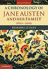 A Chronology of Jane Austen and Her Family: 1600-2000 by Deirdre Le Faye (Hardback, 2013)