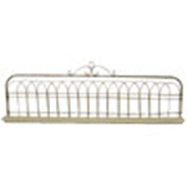 Adorable Cottage Chic Rusty Wire  Fence Wall Shelf~w/Pediment~Fairy Garden/wall