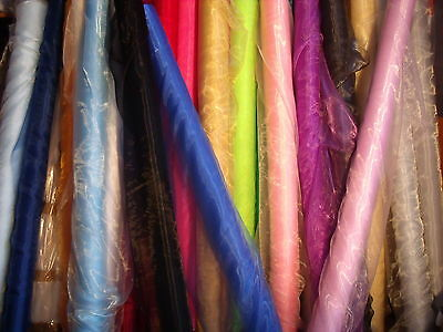SHEER ORGANZA FABRIC Voile 1m METRE Curtain  Wedding Material 150cm Wide