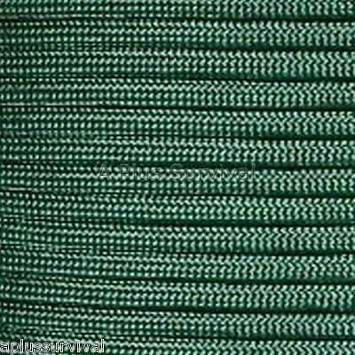 Emerald Green Paracord 50 Foot 550 lb Bracelet Camping Survival Kit Rope