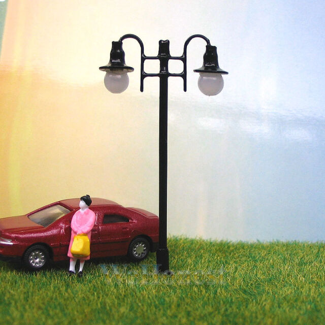 10 x OO / HO Scale Model Train Lamps Railroad Lamp posts 12V Street Lights #006
