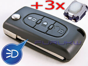 new citroen c2 c3 c4 c5 picasso jumper berlingo remote key 3x new switch button ebay. Black Bedroom Furniture Sets. Home Design Ideas