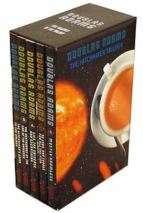 The-Hitchhikers-Guide-To-The-Galaxy-5-Books-Trilogy-Set-by-Douglas-Adams-Boxed