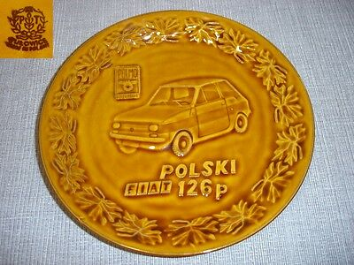 Wandteller Tillowitz Tułowice PRL Polmozbyt Fiat 126 Sammelteller Keramik DDR