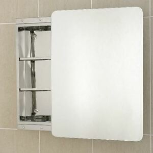 Stainless Steel Bathroom Cabinet Single Sliding Mirror Door J1 | eBay