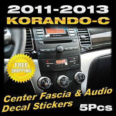Center Fascia & Audio Carbon Decal For Ssangyong 2012-2013 Actyon / Korando C