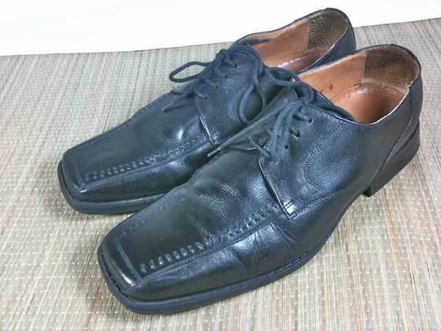 Anzio Brazilian Black Leather Square Toe 9 Euro Oxfords Mens Shoes 9 Toe 42.5 b4def2