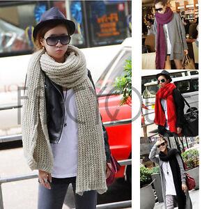FASHION-Women-Extra-Long-Winter-Warm-Tear-Design-Knit-Scarf-Shawl-4-color-SC-016