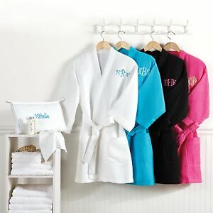 Knee-Length-Waffle-Weave-Spa-Bath-Robe-with-Carry-Case-Option-to-Personalize