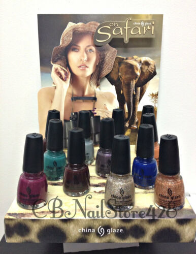 China Glaze Nail Lacquer - ON SAFARI Collection- Pick Any Color