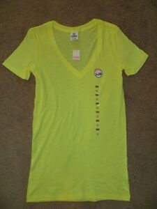 victoria 39 s secret love pink yellow dog v neck layer basic