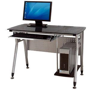 LEEDON-Computer-desk-computer-table-glass-computer-desk8mm-black-glass-15mm-MDF