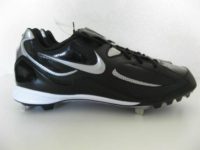 Nike Slasher Low Baseball Cleats 16 Black Metal Medium Price reduction, Solid, Synthetic Cheap and beautiful fashion