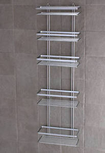 Charming Image Is Loading SATINA CHROME 5 TIER LARGE SHOWER CADDY SHELF