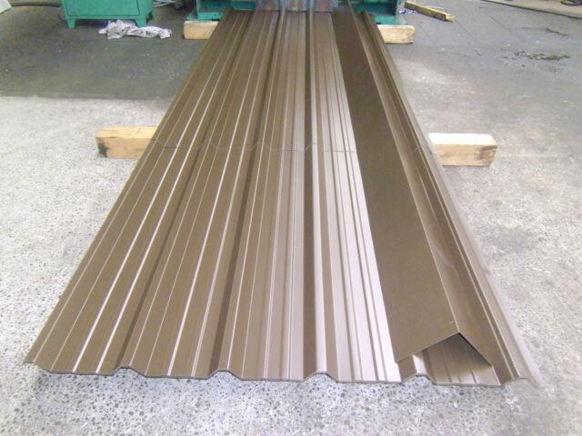 Corrugated Metal sheets, Vandyke Brown 0.7mm thick