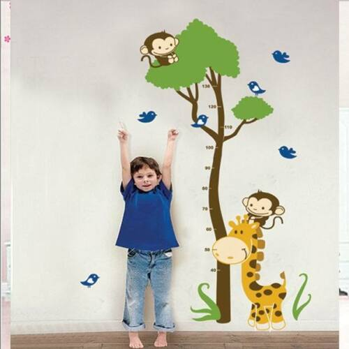 Giraffe Growth Chart Wall Sticker Decal