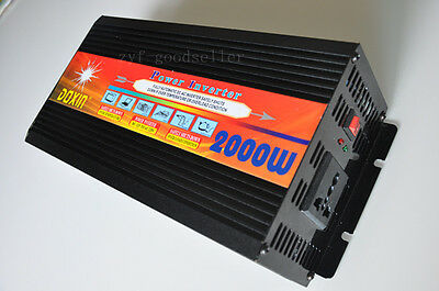4000W Watts Peak Real 2000W Power Inverter 12V DC to 220V AC New