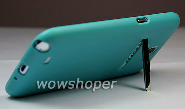 Bracket TPU Gel Soft Case Cover For Samsung Galaxy Note 2 II N7100 Dark Blue