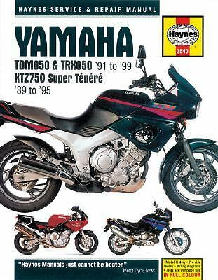 Haynes Yamaha TDM850 and TRX850 '91 to '99 - XTZ750 Super Tenere '89 To '95