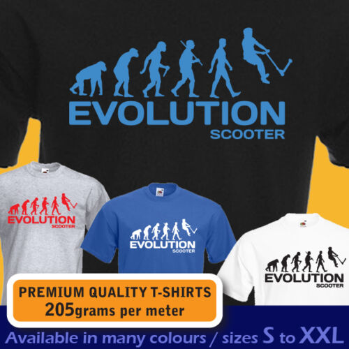 Push kick stunt SCOOTER ape EVOLUTION funny t-shirt mens boys teens bday gift