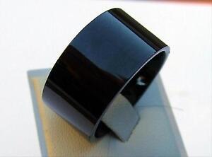 tungstene-Carbide-ANNEAU-12-mm-largeur-Titan-dur-Haute-Brillance-Noir