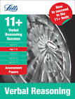 Letts 11+ Success: Verbal Reasoning Age 7-8: Assessment Papers by Letts Educational (Paperback, 2010)