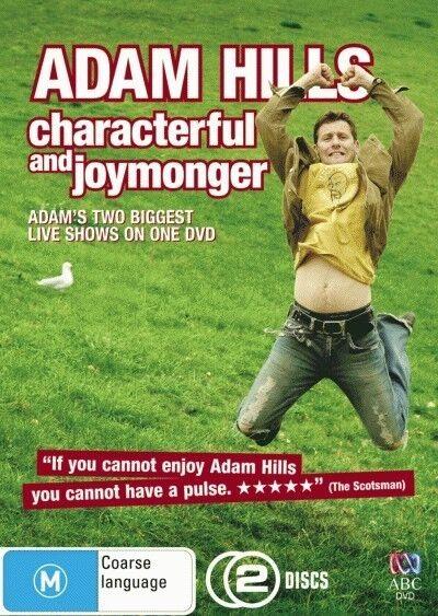 Adam Hills - Characterful and Joymonger (DVD, 2-Disc Set) R-4- LIKE NEW
