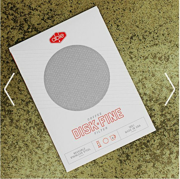 Able Fine Stainless Steel Disc Filter for Aeropress coffee maker replaces paper