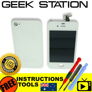 for-iPhone-4S-LCD-replacement-touch-screen-digitizer-rear-battery-cover-white