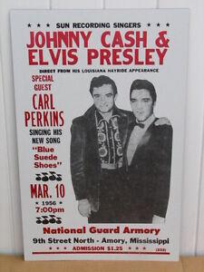 vintage elvis concert poster johnny cash 1956
