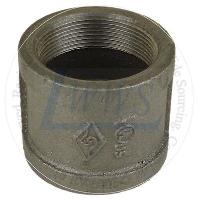 """1-1/2"""" Black Pipe Fitting Couplings (Lot of 10)"""