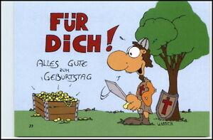 Fur Dich Zum Geburtstag Karikatur Ritter Goldschatz Postkarte