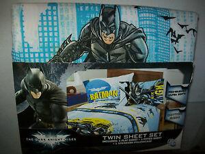BATMAN-THE-DARK-KNIGHT-RISES-3-PC-TWIN-BED-SHEET-SET-FREE-DOMESTIC-SHIPPING