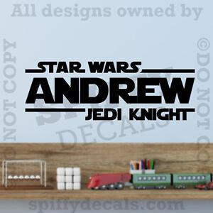 Star Wars Jedi Knight Personalized Custom Name Quote Vinyl