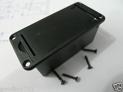 9V Battery Holder/Case/Box With Screw Base For Active Guitar Bass Pickups New B5