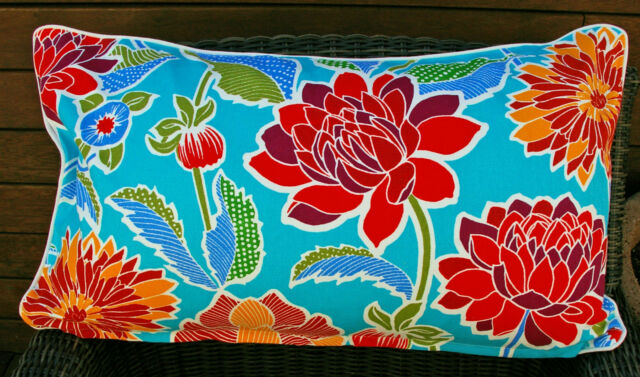 """OBLONG CUSHION COVER """"DELPHIA BLUE"""" -  COUCH, or DAYBED"""