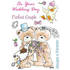 Popcorn The Bear 'Wedding Day' Unmounted Rubber Stamp Set