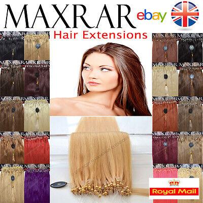 """25 Micro Loop 100% Remy Human Hair Extensions 18 """" Easy locks ring 0.5 gram"""