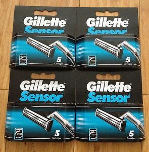 20-Gillette-Sensor-Regular-Shaver-Razor-Blade-Refill-Cartridges-Genuine-4-Packs