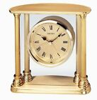 Seiko Desk and Table Alarm Clock Gold-Tone Solid Brass Case (QHE101GL)