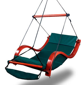 Image Is Loading New Deluxe Hammock Air Chair Green Padded Hanging
