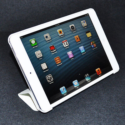 White Smart Cover Slim Magnetic PU Leather Case Sleep Wake Stand for iPad Mini
