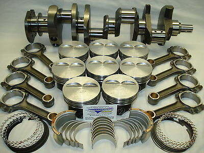 """SBC 383 Stroker 4.06"""" Bore 2pc Internal Bal, Forged Wiseco Pistons 10.3:1 Comp"""
