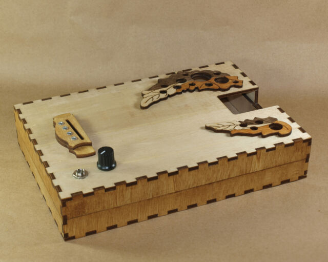 Dark Cat Cigar box Guitar Custom-made Body