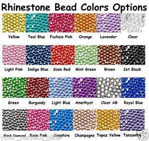 500 Rhinestone Crystal Flat Back Acrylic Faceted Gem Scrapbooking 5mm 7mm 11mm