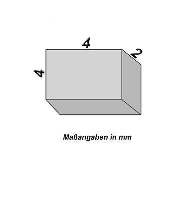 10 Neodym Magnete - 4 x 4 x 2 mm - Neu