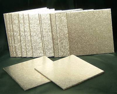 4inch SQUARE CAKE BOARDS / CARDS (Pk of 20) MINIATURE CAKE DECORATING